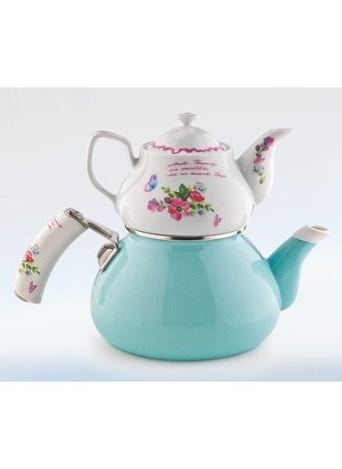 Schafer Stelle Porselen Çaydanlık Mavi